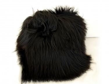 Coussin en mouton Islandais noir DOUBLE face