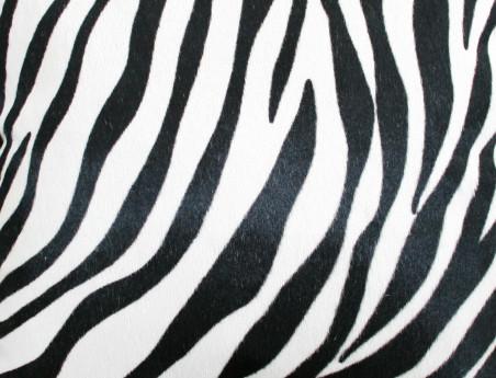 Coussin en peau de vache imprimée Zèbre SIMPLE face