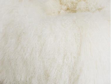 Pouf en agneau de Mongolie