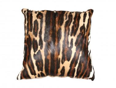 Coussin en peau de Springbok léopard SIMPLE face