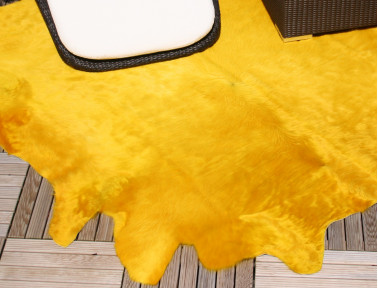 Yellow cowhide