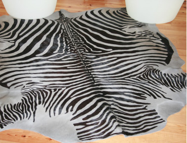 Gray zebra cow skin