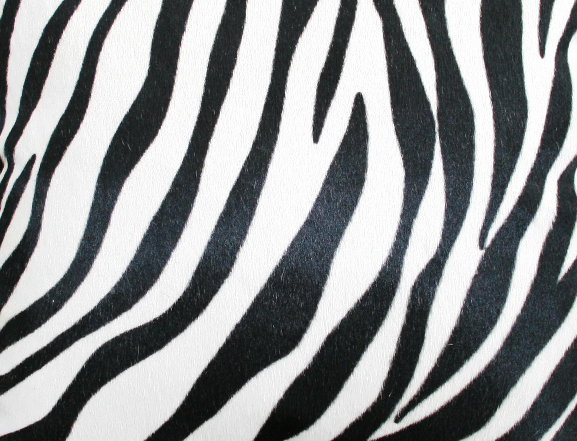 Coussin rectangle en peau z br e double face - Tapis peau de zebre ...