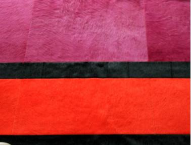 Tapis Patchwork Olympe en Peau de vache multicolore