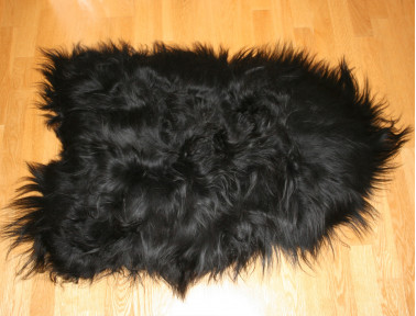 Peau de mouton islandais noir Tannage écologique