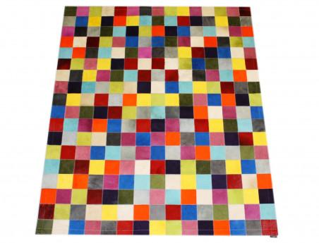 Tapis Patchwork Elmer en Peau de vache unie multicolore