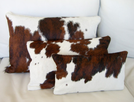 Rectangular Cushion in Normande Skin DOUBLE FACE