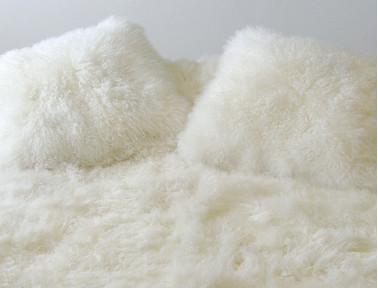 Coussin en agneau de Mongolie double face