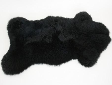 Peau de mouton teintée noire
