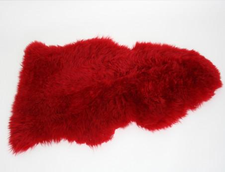 Red tinted sheep skin