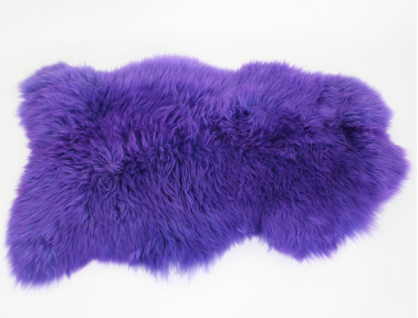 Purple tinted sheepskin