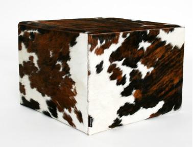 Pouf en peau de vache Normande