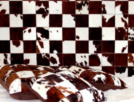 Tête de lit en peau de vache multicolore Elmer