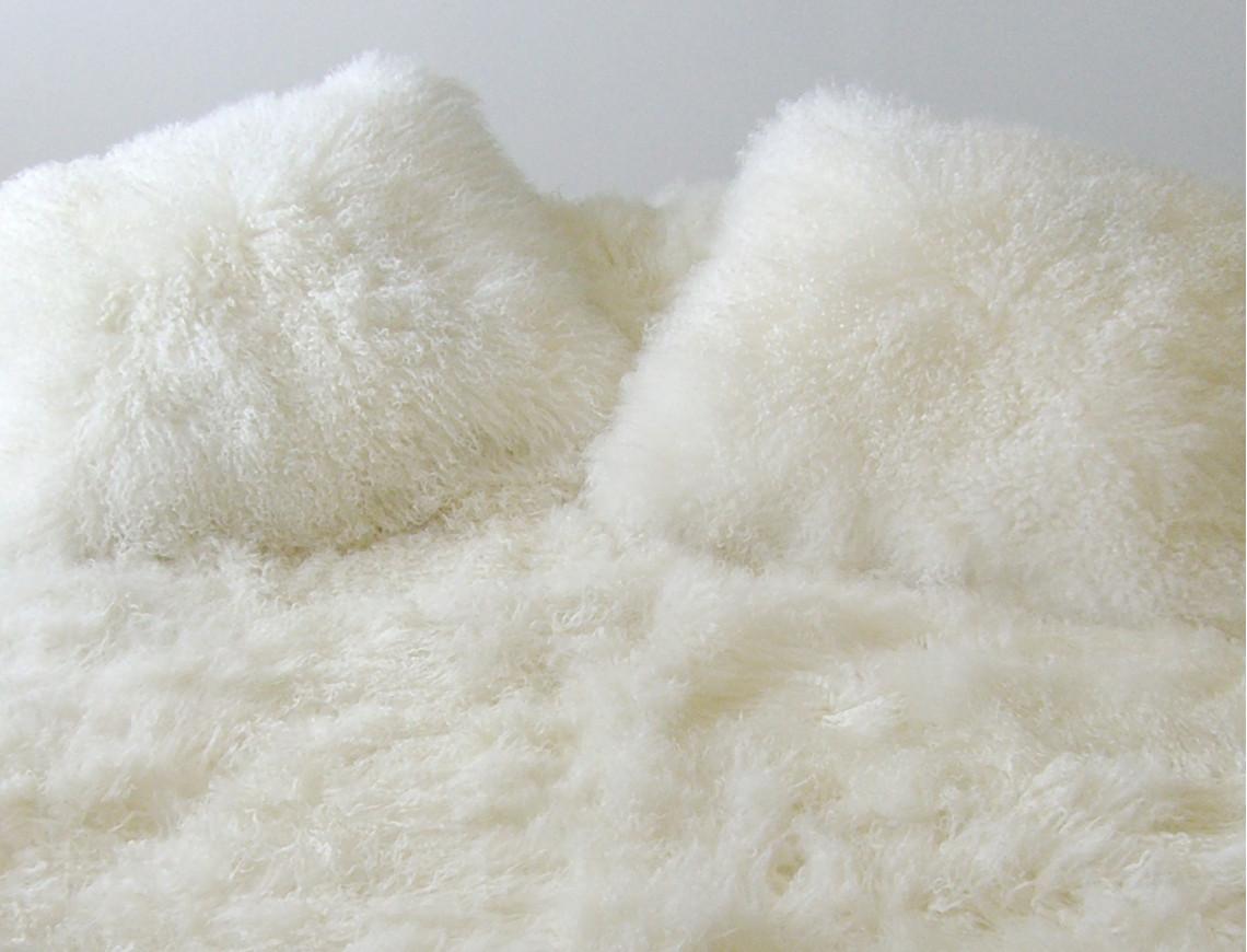 Coussin en agneau de Mongolie SIMPLE FACE