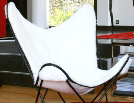 Sheepskin butterfly armchair cover