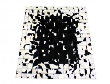 Tapis patchwork Noir & Blanc Mosaïque