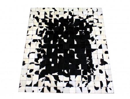 "Tapis patchwork ""Pixel"" Noir & Blanc."