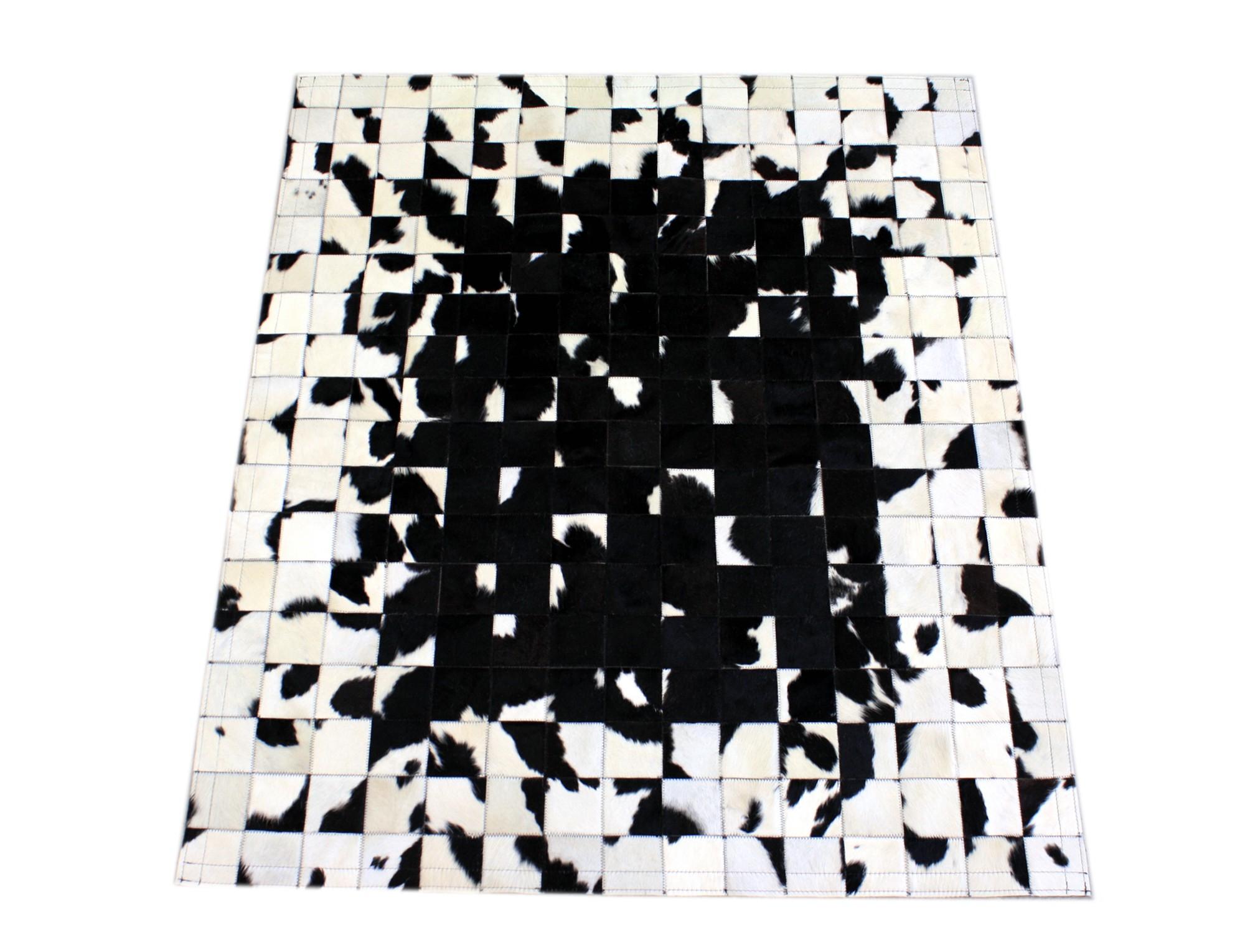 Tapis patchwork noir blanc mosa que - Tapis salon noir et blanc ...