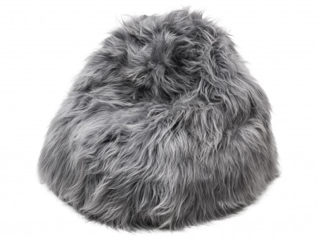 Icelandic gray stained pear bean bag