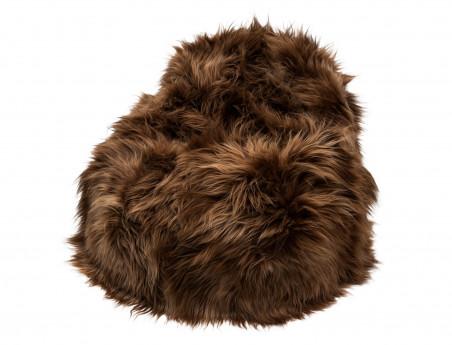 Icelandic sheep brown pear pouf