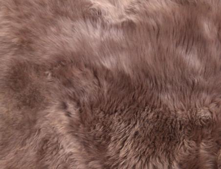 Peau de mouton teintée greige