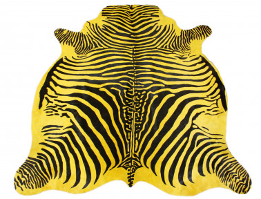 Yellow zebra cowhide