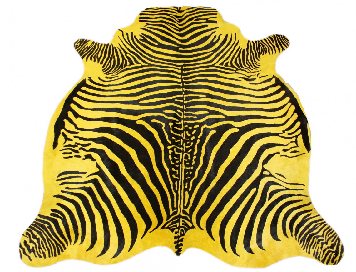 yellow zebra cowhide. Black Bedroom Furniture Sets. Home Design Ideas