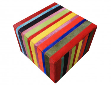 "Patchwork pouf bandage ""Smile"" solid multicolored cowhide"