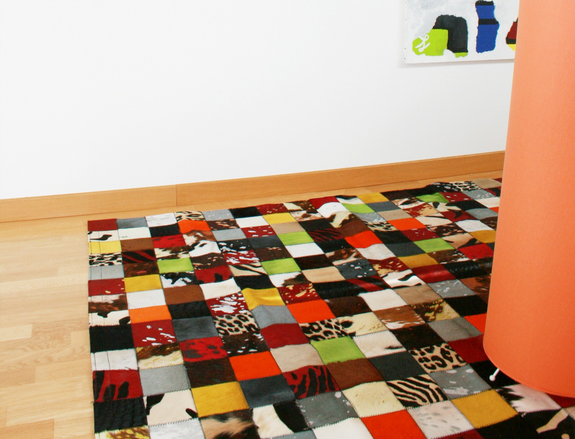 tapis patchwork elmer en peau de vache multicolore. Black Bedroom Furniture Sets. Home Design Ideas