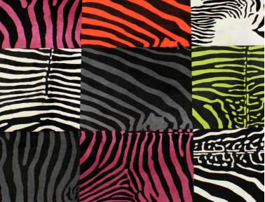 Tapis Patchwork zèbre multicolore