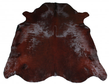 Dark brown cowhide