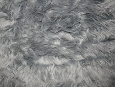 Peau de mouton synthétique gris
