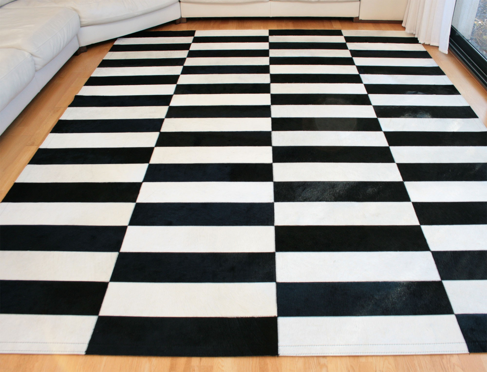 tapis patchwork pump noir blanc by sonia m. Black Bedroom Furniture Sets. Home Design Ideas