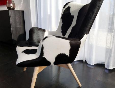"Fauteuil en peau de vache ""Bô"" by Sonia.M"