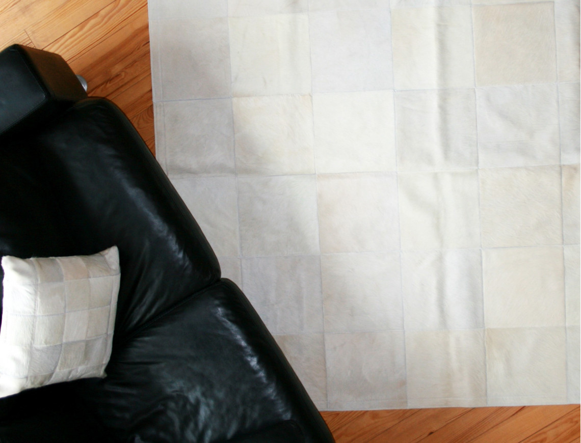 Tapis Patchwork blanc ivoire