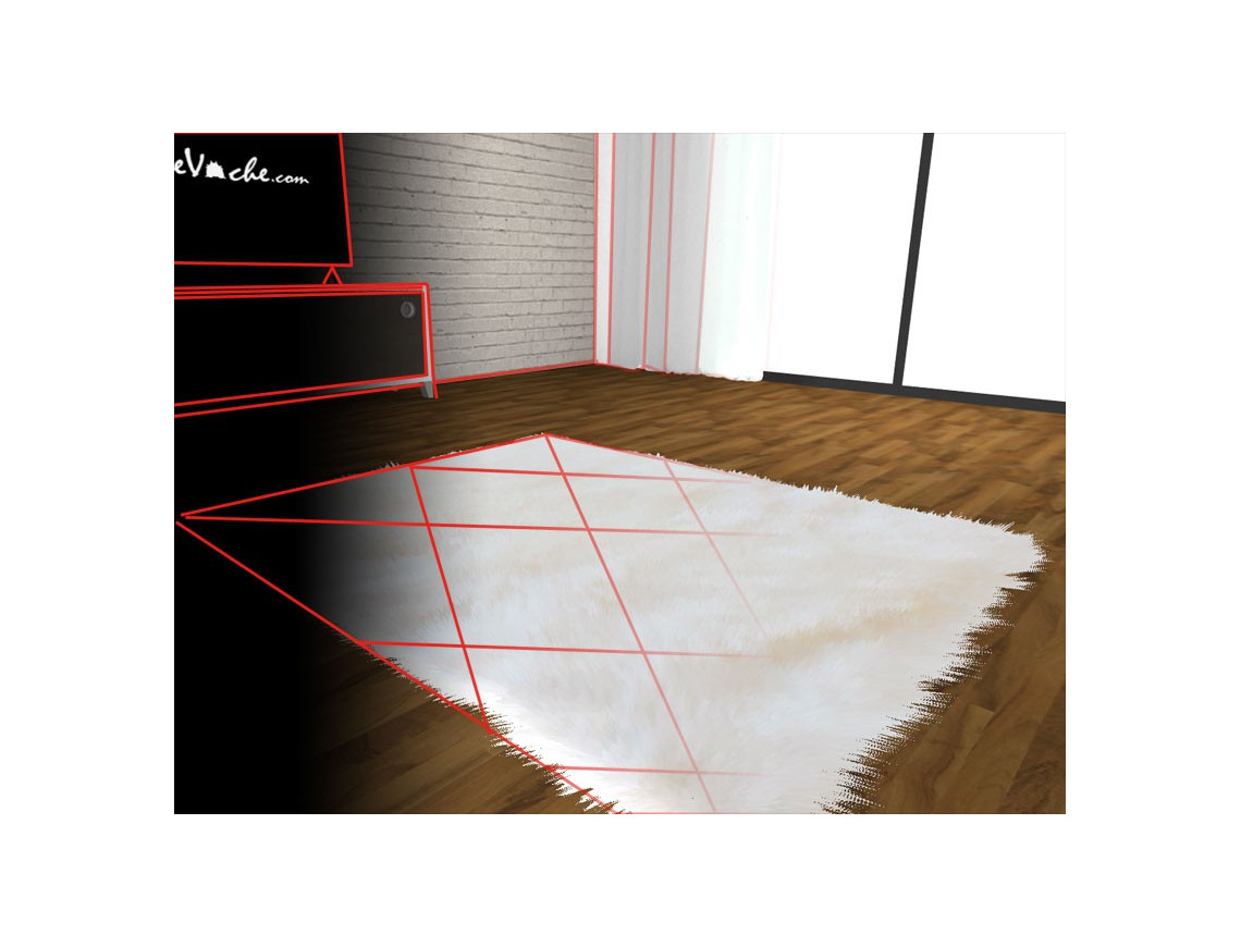 Tapis sur mesure en peau de mouton (avec visualisation en 3D)