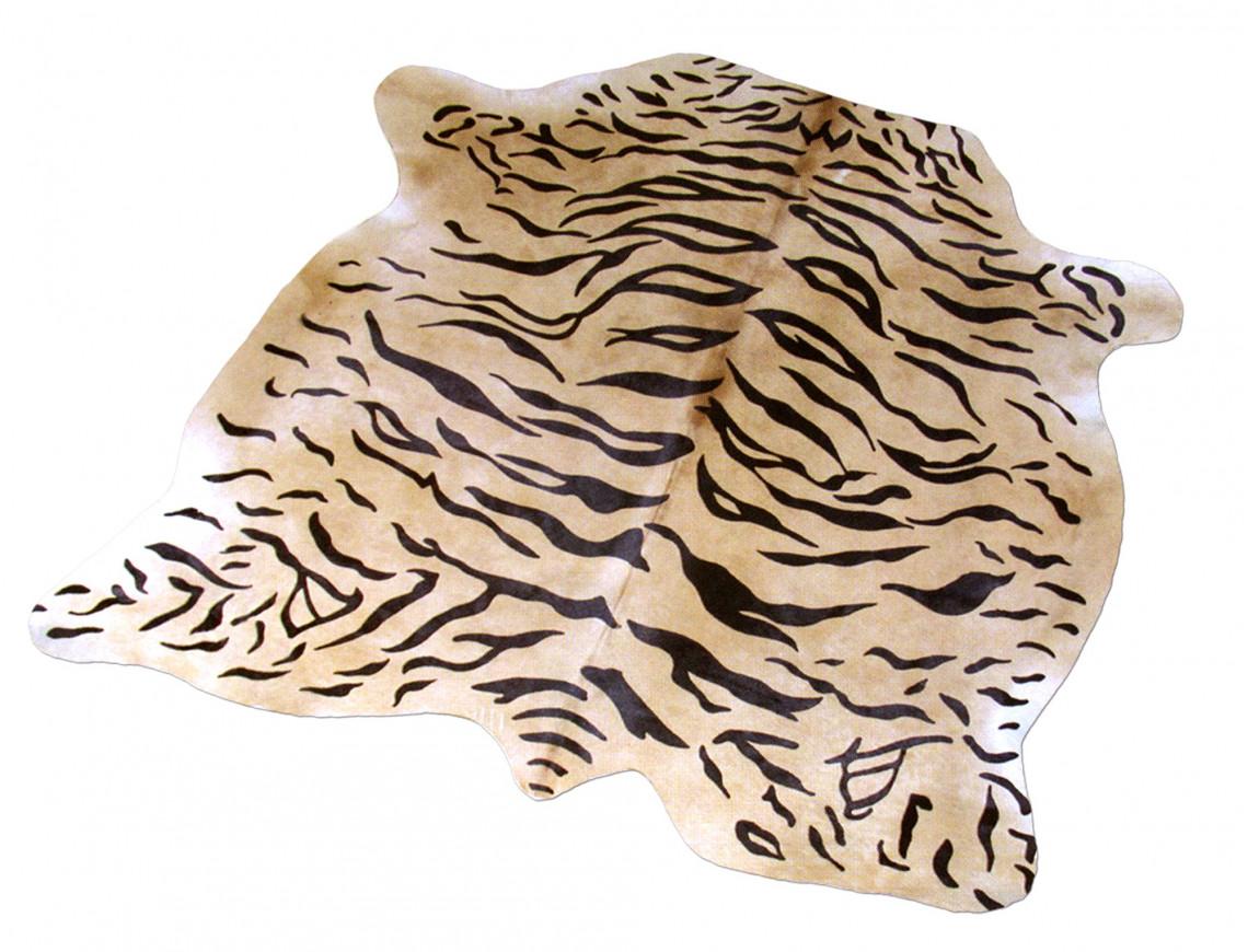 Peau de vache imprimée motif Tigré