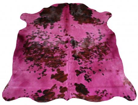 Peau de vache Naturelle teintée rose parme