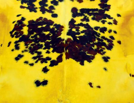 Peau de vache Naturelle teintée jaune