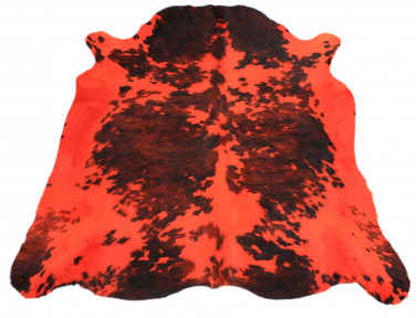 Natural cowhide stained orange