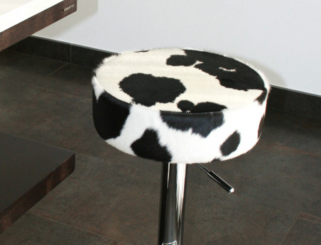 Black and White cowhide stool