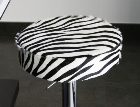 Cowhide Stool Printed Zebra