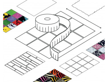 Tapis patchwork sur mesure en peau de vache (avec visualisation en 3D)
