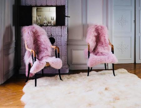 Pink tinted sheep skin