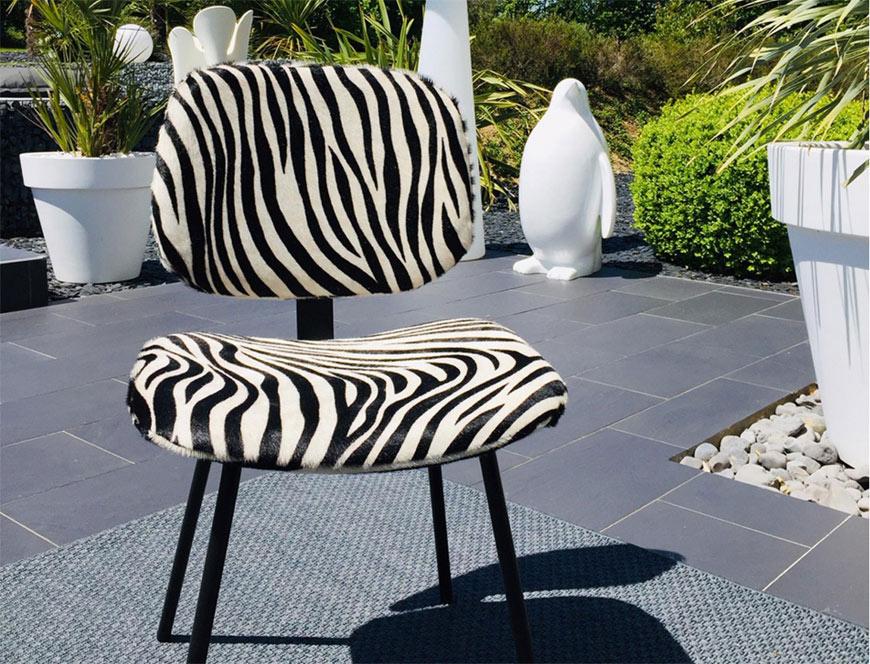 Chaise Pompon by Sonia.M en extérieur